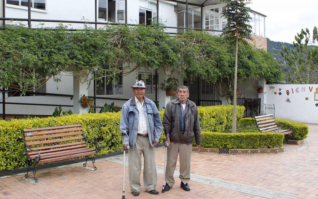 abuelos con bastones